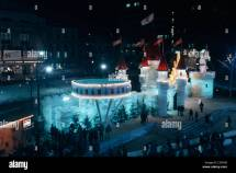Winter Carnival Ice Palace Stock &