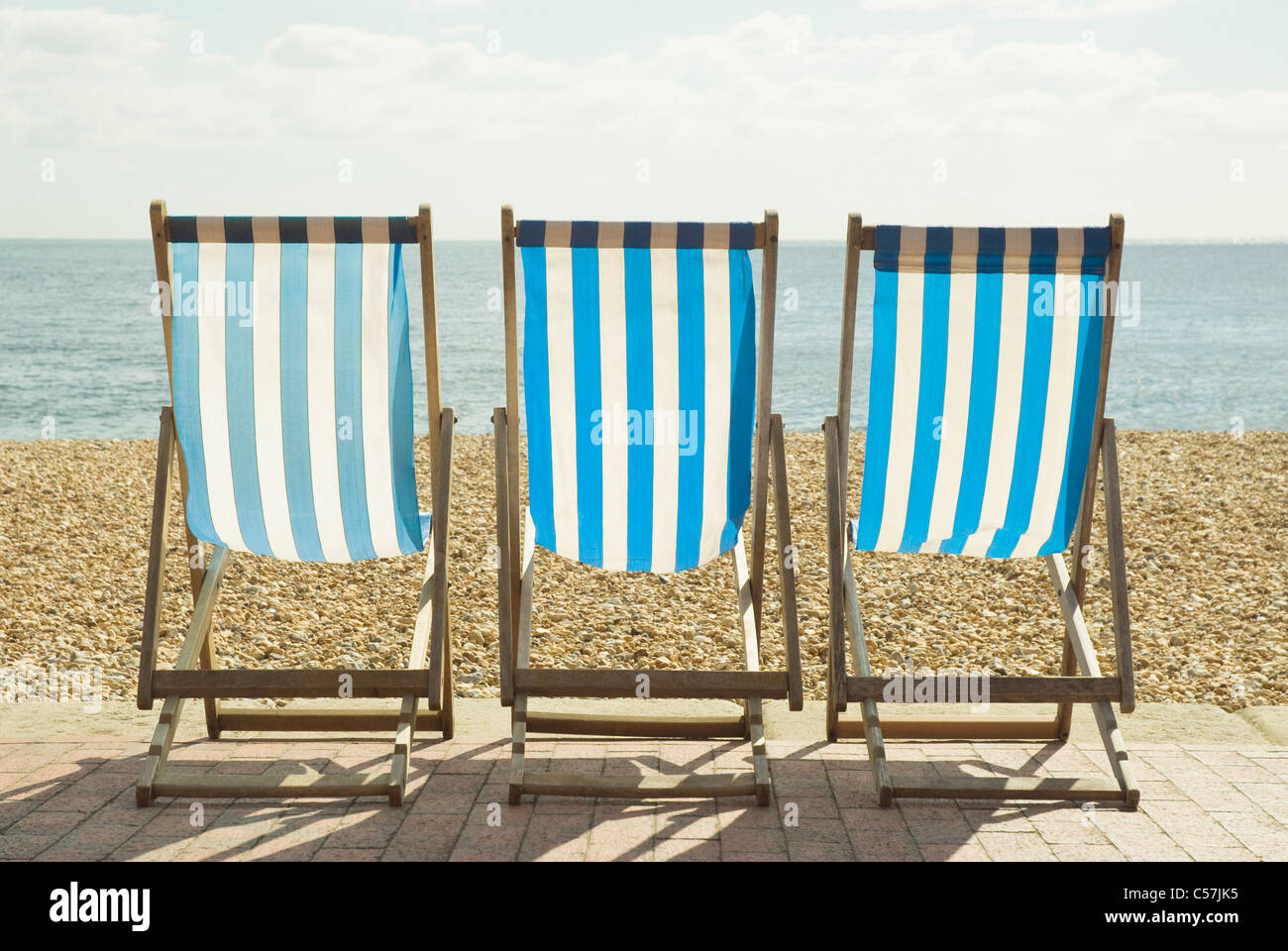 beach lawn chairs chamber pot chair striped on stock photo 37662329 alamy