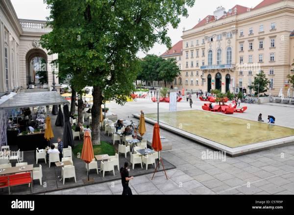 Museum Of Modern Art Outdoor Cafe Quarter Vienna