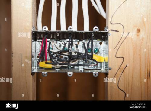 small resolution of inside an electrical switch box edmonton alberta canada stock image