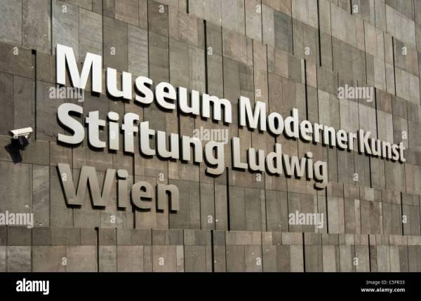 Mumok Museum Moderner Kunst Of Modern Art Sign