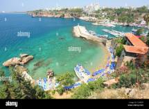 Turkey Antalya Beach And Tourists Coast Of
