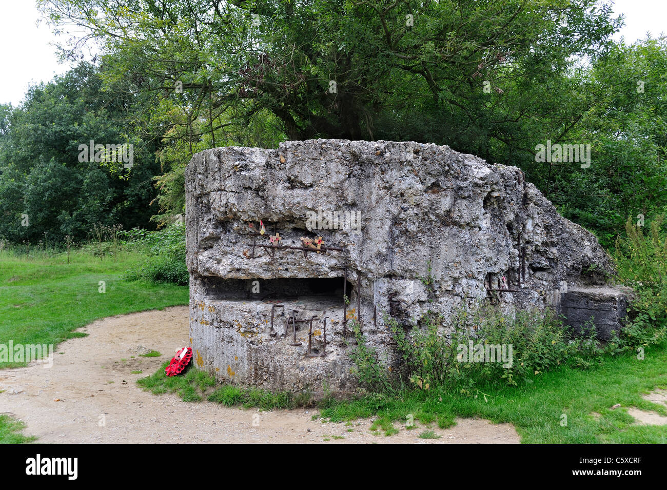 Ruin Of First World War One German Wwi Pillbox On Hill 60 14 18 Site Stock Photo