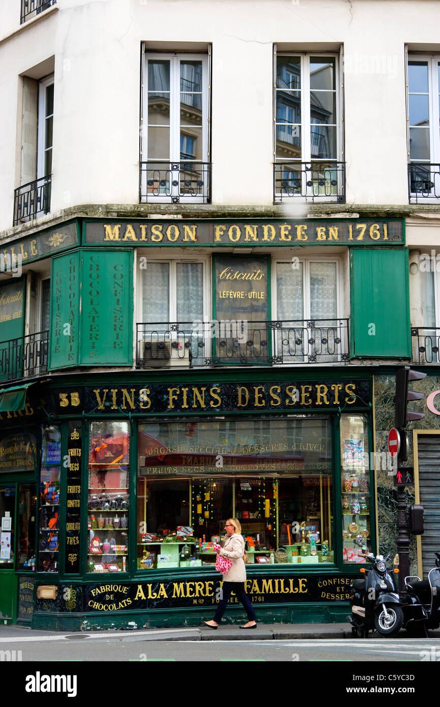 A La Mere De Famille Paris : famille, paris, Famille,, 18thC, Paris,, France, Stock, Photo, Alamy
