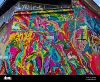 Paris, France, Painted Wall Mural, Graffiti, Abstract ...
