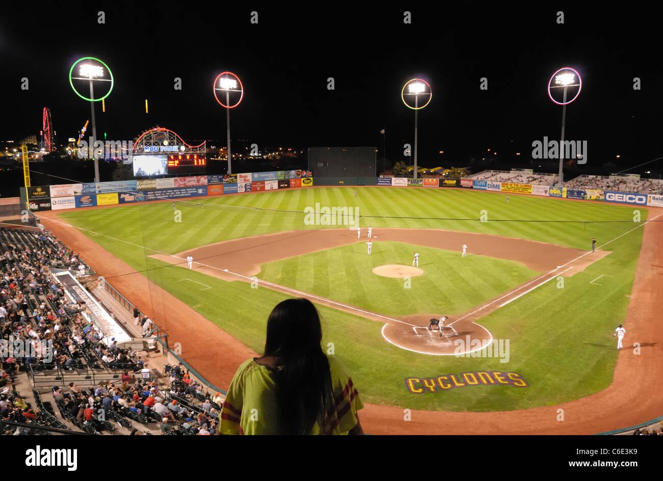Brooklyn Cyclones Night Baseball Game, View From Luxury