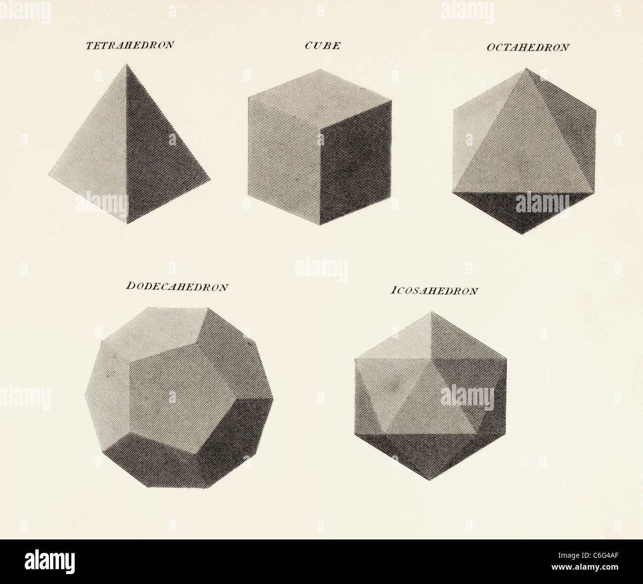 Three Dimensional Geometric Shapes Stock Photo Royalty