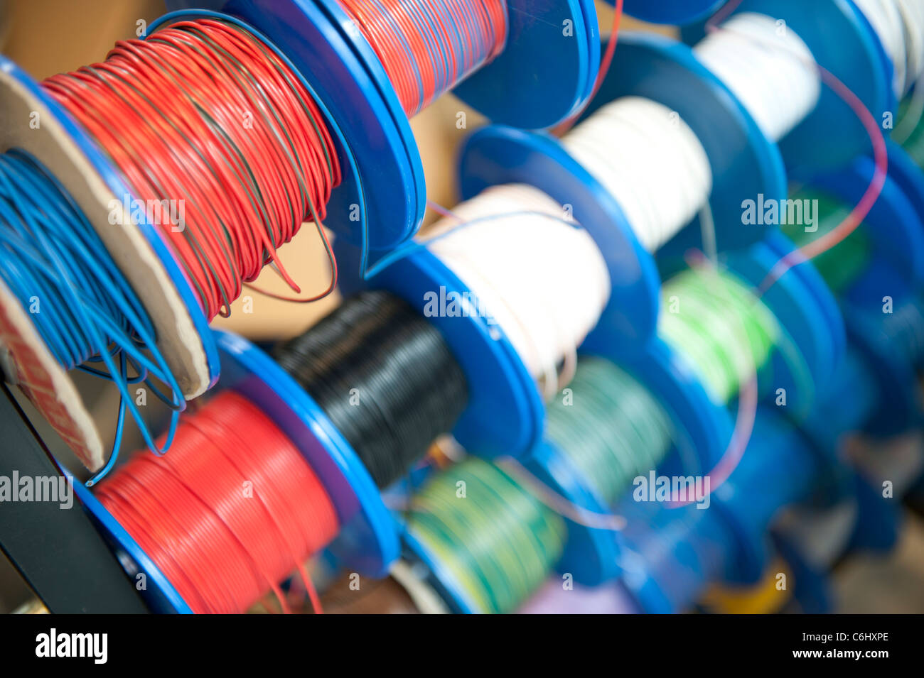 hight resolution of reels of cables