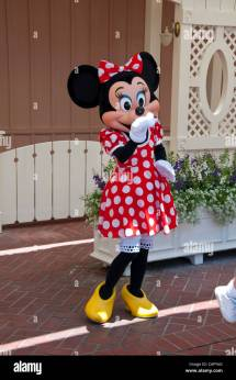 Minnie Mouse Character Disneyland In Anaheim California