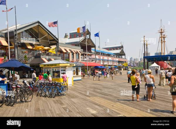 South Street Seaport Historic District In York City