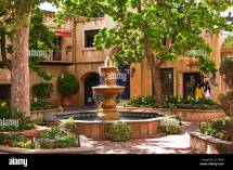 Spanish Style Courtyard and Fountain