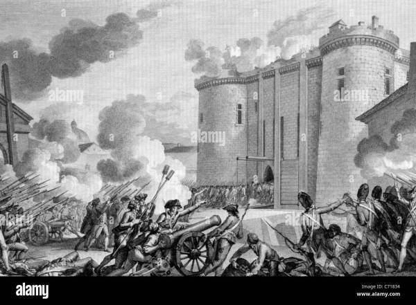 Storming Of Bastille In Paris 14 July 1789 Stock
