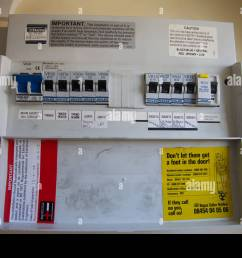 a domestic fuse box england stock image [ 1300 x 956 Pixel ]