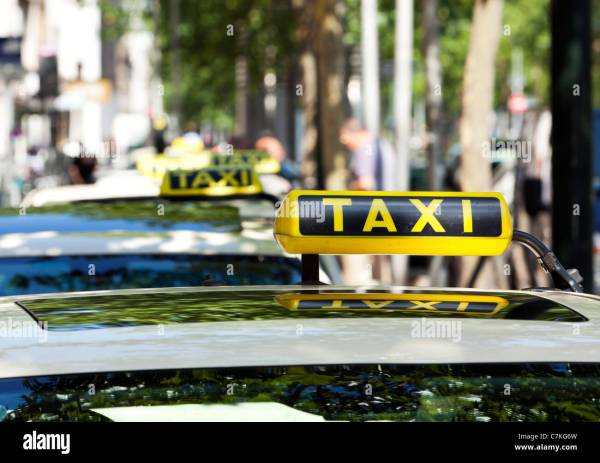 German Taxi Cab Signs - Year of Clean Water