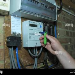 Electric Meter Box Wiring Diagram Uk Lights Stock Photos And Images