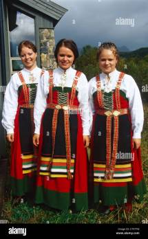 Traditional Norway Clothing Stock &