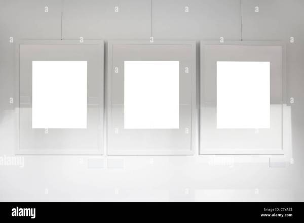 Empty Frames Wall Stock &