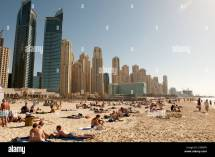 Dubai Marina Beach Stock &