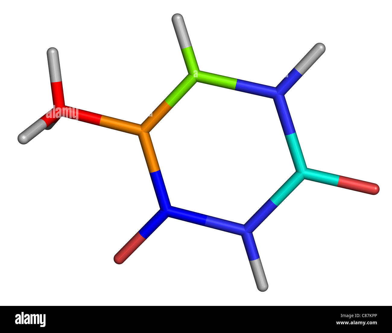 hight resolution of thymine is one of the four nucleobases in the nucleic acid of dna