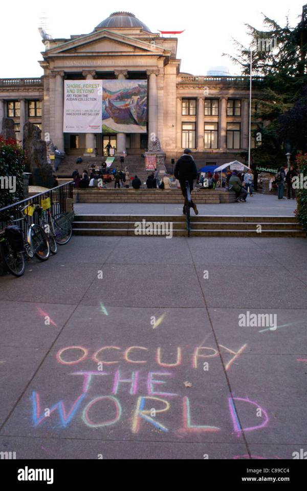 Occupy Wall Street Protest Signs Stock &