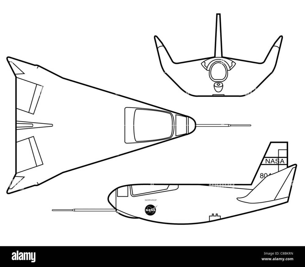 medium resolution of 3 view aircraft line art drawing the hl 10 was one of five aircraft built in the lifting body research program