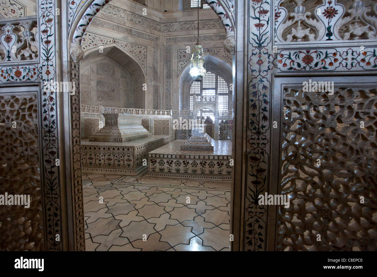 The Taj Mahal Mausoleum Marble Tomb Caskets Of Shah Jahan
