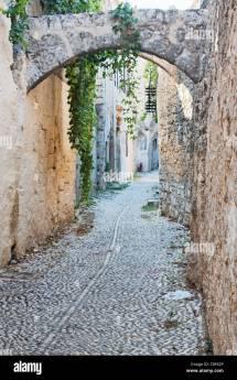 Rhodes Town Greece Stock &