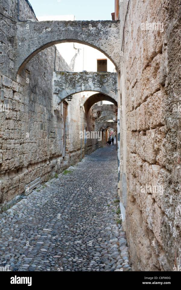 Alley In Rhodes Stock &