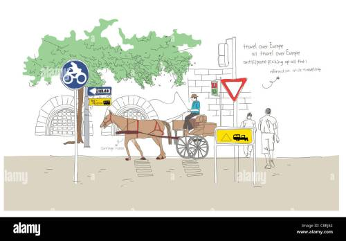 small resolution of illustration of horse cart stock image