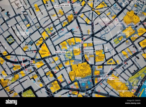 England London Leicester Square Tourist Information Map Stock 39915204 - Alamy