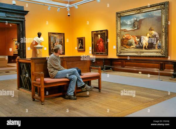 Victorian Oil Paintings In Permanent Collection Exhibition Stock 40017422 - Alamy