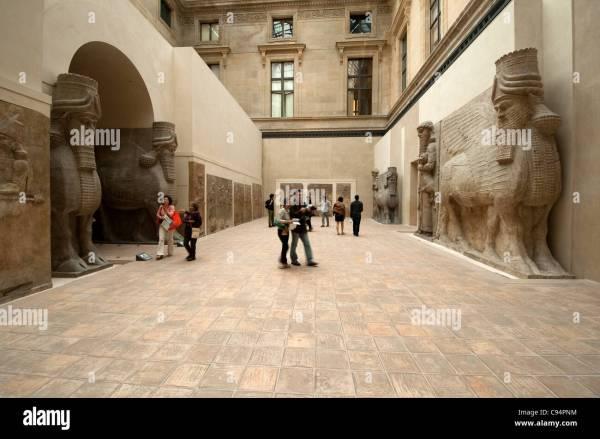 Le Louvre Paris France Mesopotamia Collection Stock