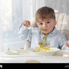 Toddler Boy Chair White Saucer Dirty Child Stock Photos And Images Alamy