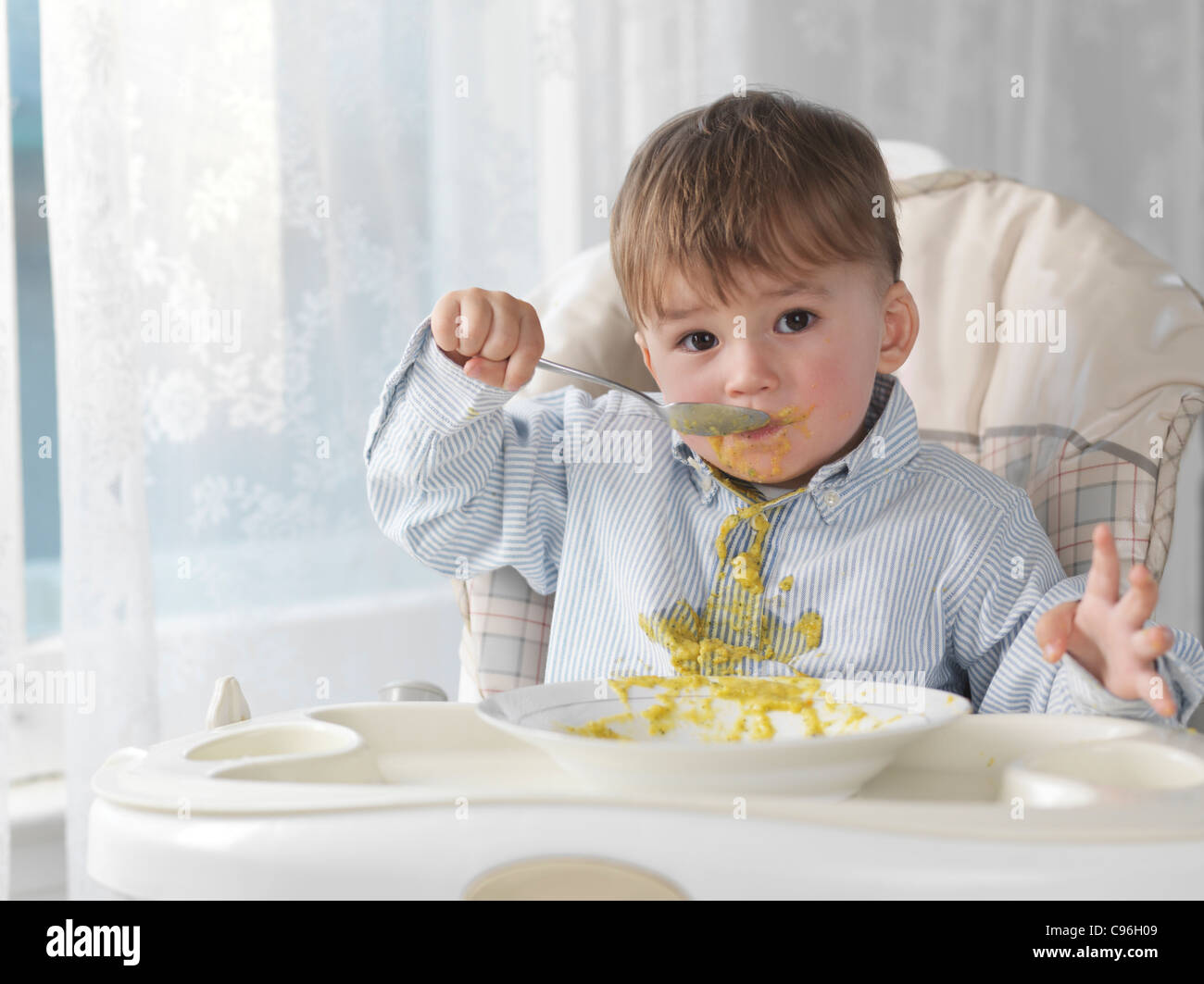 High Chair For Baby Boy Dirty Child Stock Photos And Dirty Child Stock Images Alamy