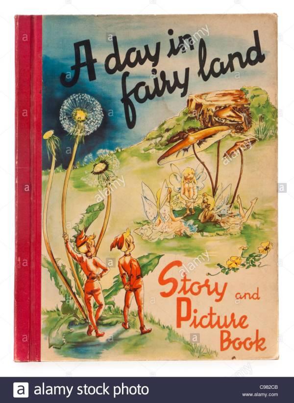 """1940' Children' Book """" Day In Fairyland"""" Sigrid"""