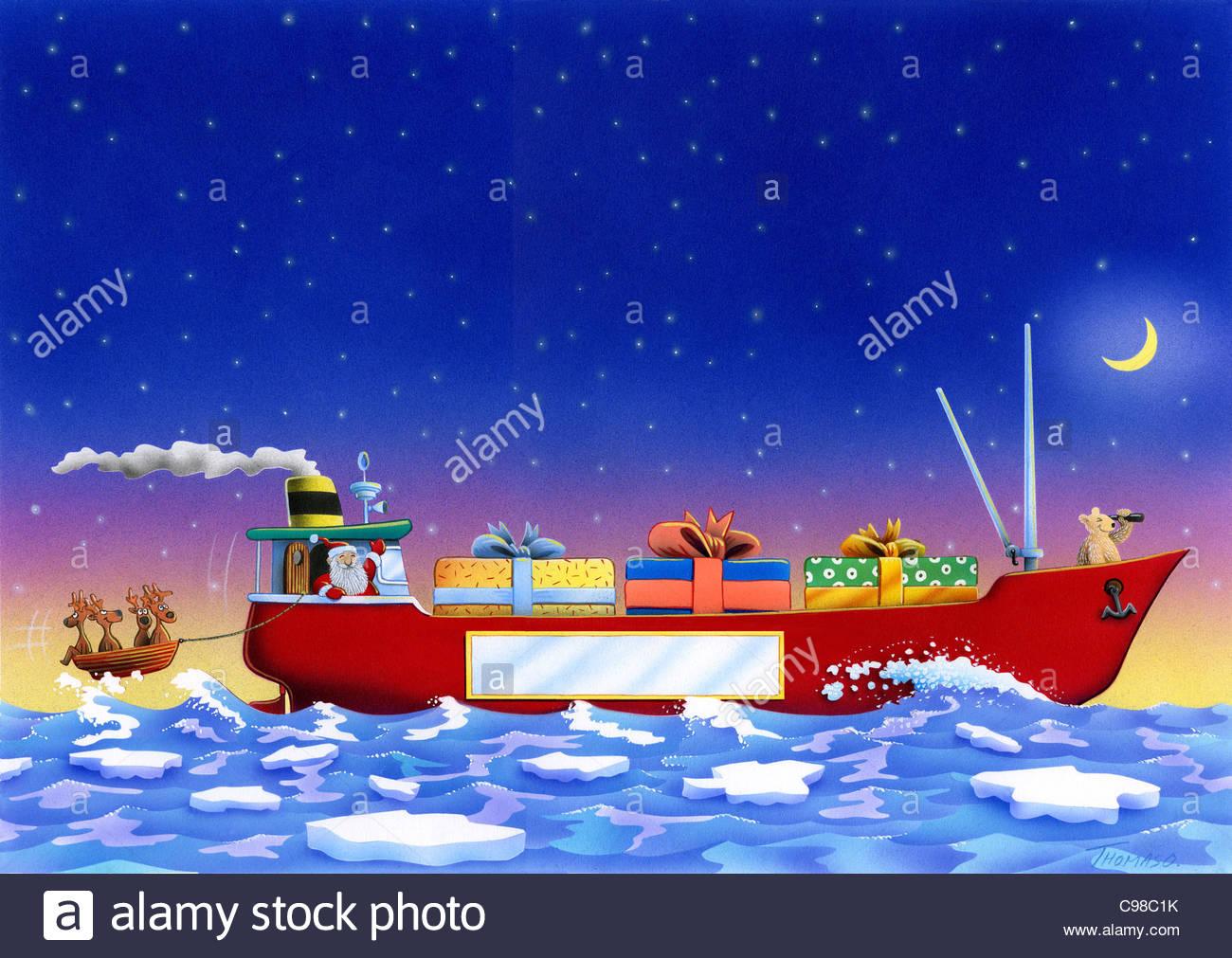 Christmas Gifts On Container Ship Christmas Christmas
