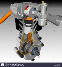 engine interface cross section optional single cylinder motorcycle cross se stock image [ 1300 x 1344 Pixel ]