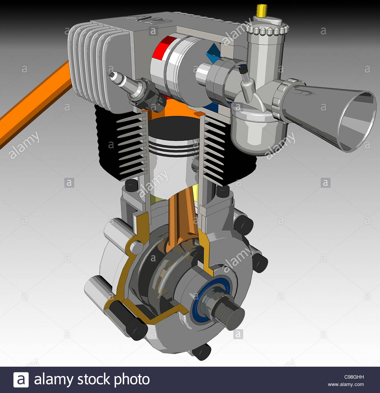 hight resolution of engine interface cross section optional single cylinder motorcycle cross se stock image
