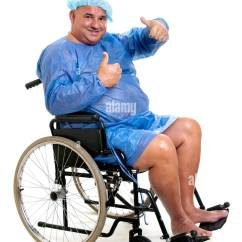 Wheelchair Man Fold Out Chair Bed Nz Cut Stock Images Pictures Alamy Happy Large Patient In A Image