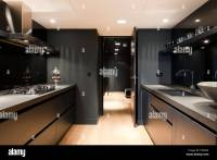 Contemporary Kitchen galley in London Apartment Stock ...