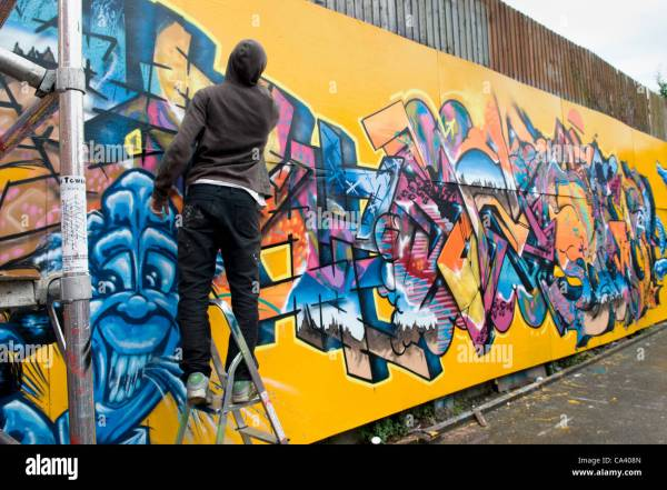 Graffiti Artist Work Upfest Bristol 2012 Urban