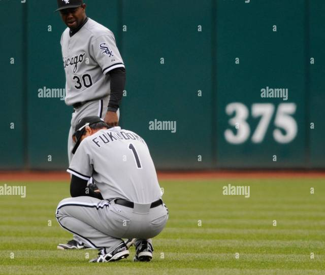 Cleveland Oh Usa April 11 Chicago White Sox Right Fielder Kosuke Fukudome