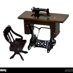 Antique Sewing Chair Outdoor Sling Fabric Replacement Table Machine With A Foot Pedal And Path Included