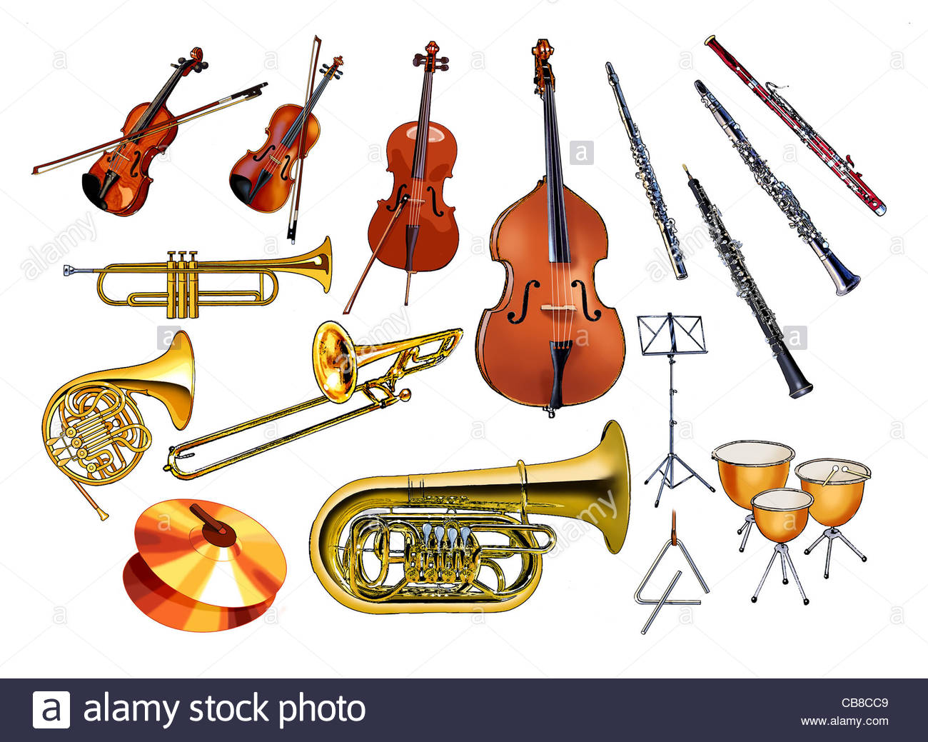 Musical Instruments Orchestra Stock Photo Royalty Free
