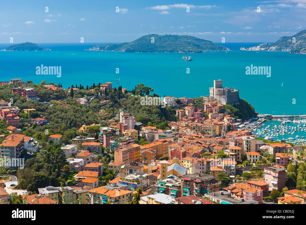 Lerici Castle and the Gulf of La Spezia Province of La Spezia Stock Photo 41471322  Alamy