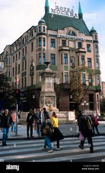 Belgrade Serbia. Art Nouveau Hotel Moscow Moskva