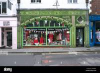 Old shop front with ceramic tile facing Stock Photo ...