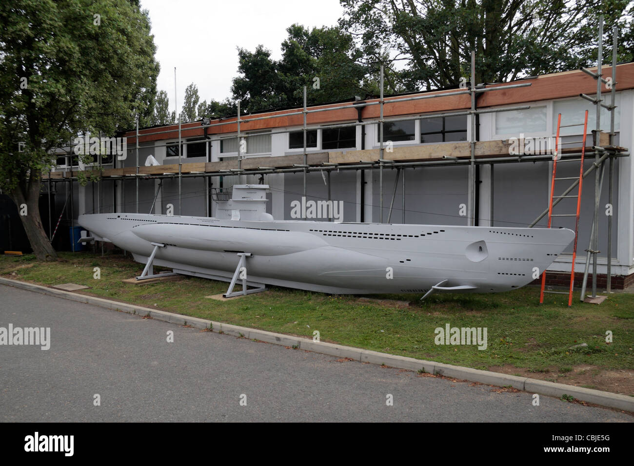 A Scale Model Of A German World War Ii U Boat In The Grounds Of Stock Photo