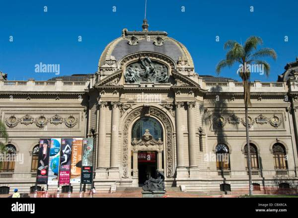 Santiago De Chile City. Palace Of Fine Arts Bellas Artes