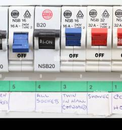 close up of a domestic electrical fuse box on off switch picture byclose up of a [ 1300 x 971 Pixel ]